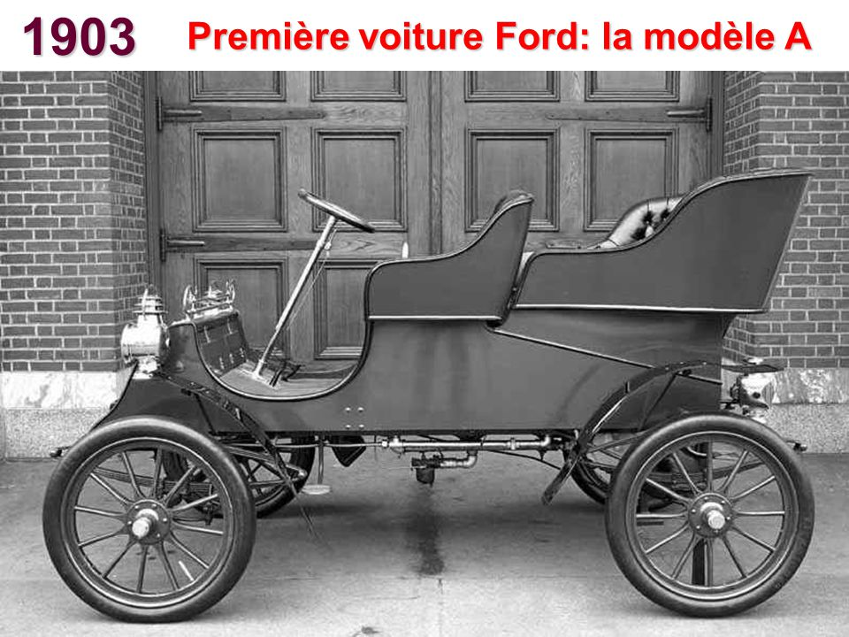 Première voiture Ford: la modèle A