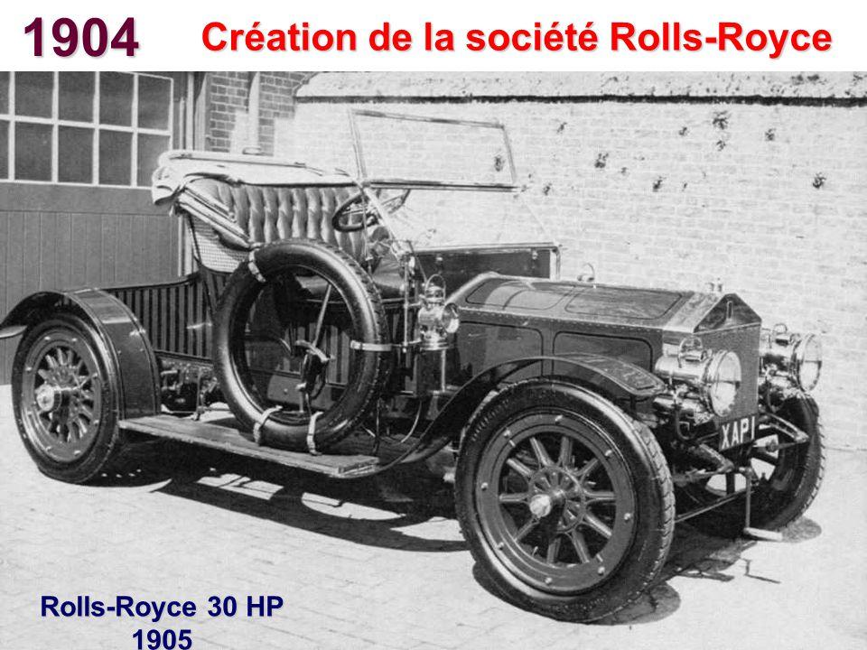 Création de la société Rolls-Royce