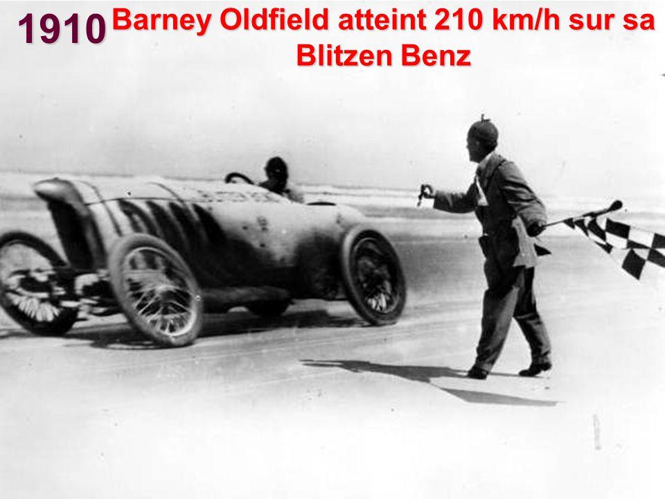 Barney Oldfield atteint 210 km/h sur sa Blitzen Benz