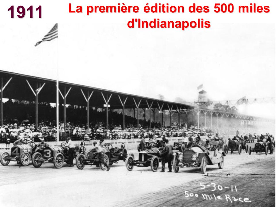 La première édition des 500 miles d Indianapolis