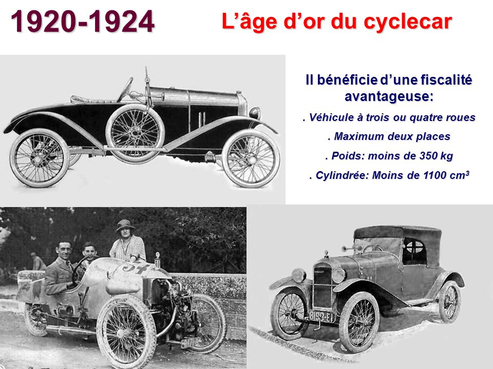 1920-1924 L'âge d'or du cyclecar