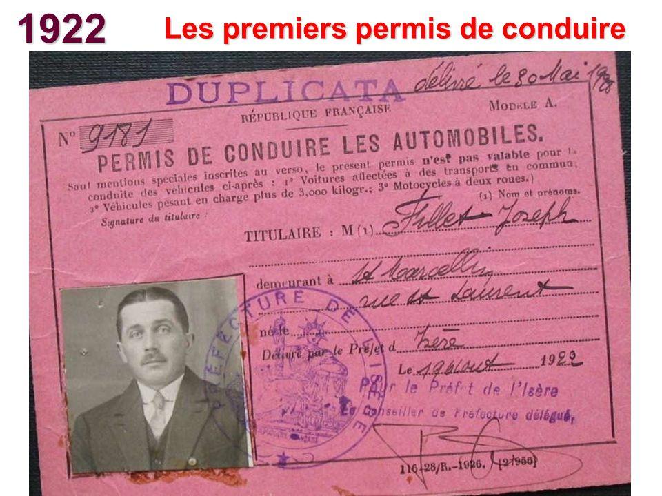 Les premiers permis de conduire