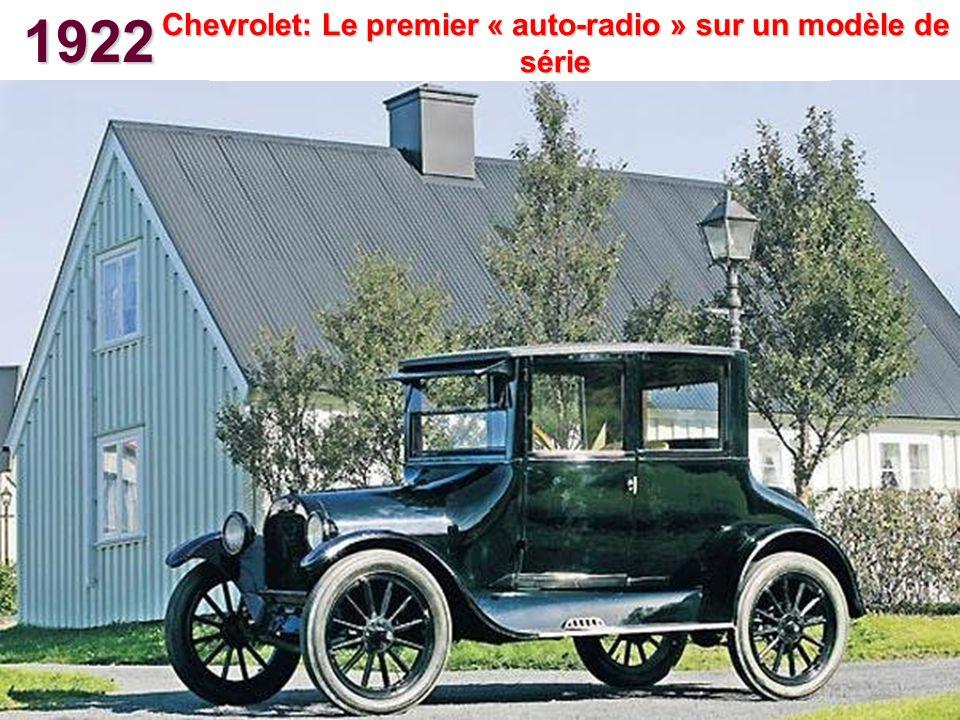 Chevrolet: Le premier « auto-radio » sur un modèle de série