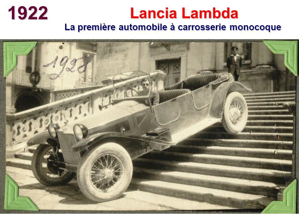 La première automobile à carrosserie monocoque