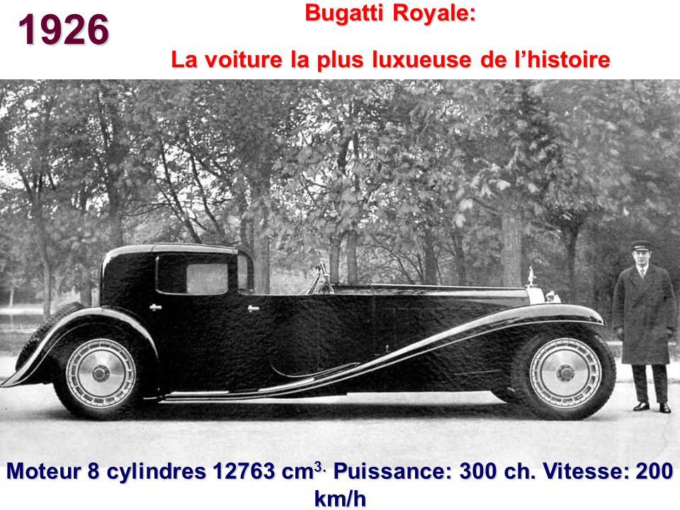 1926 Bugatti Royale: La voiture la plus luxueuse de l'histoire