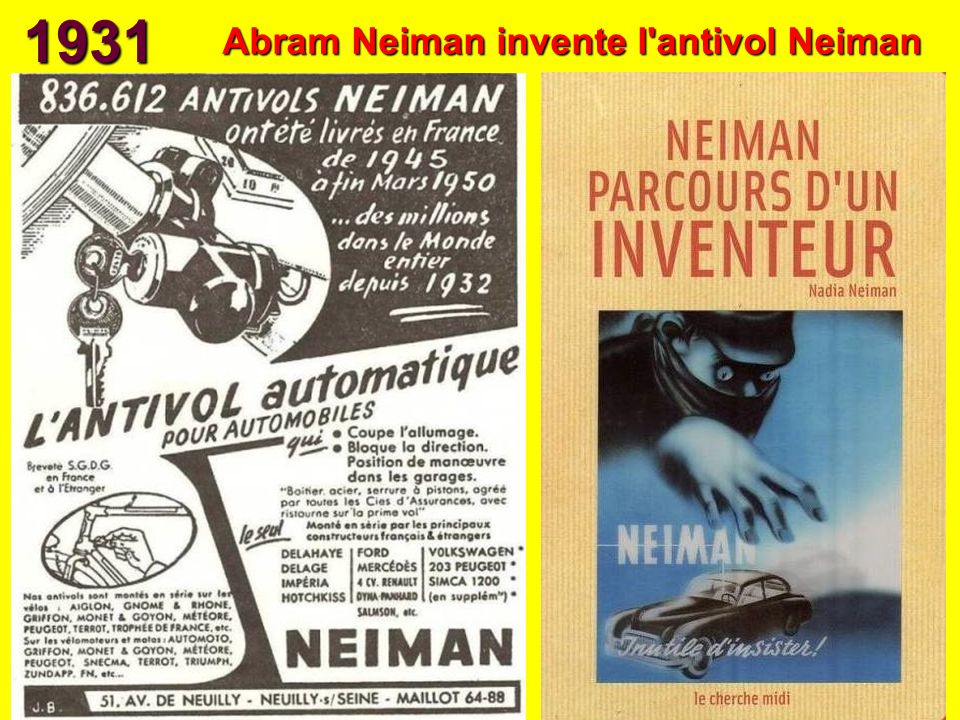Abram Neiman invente l antivol Neiman