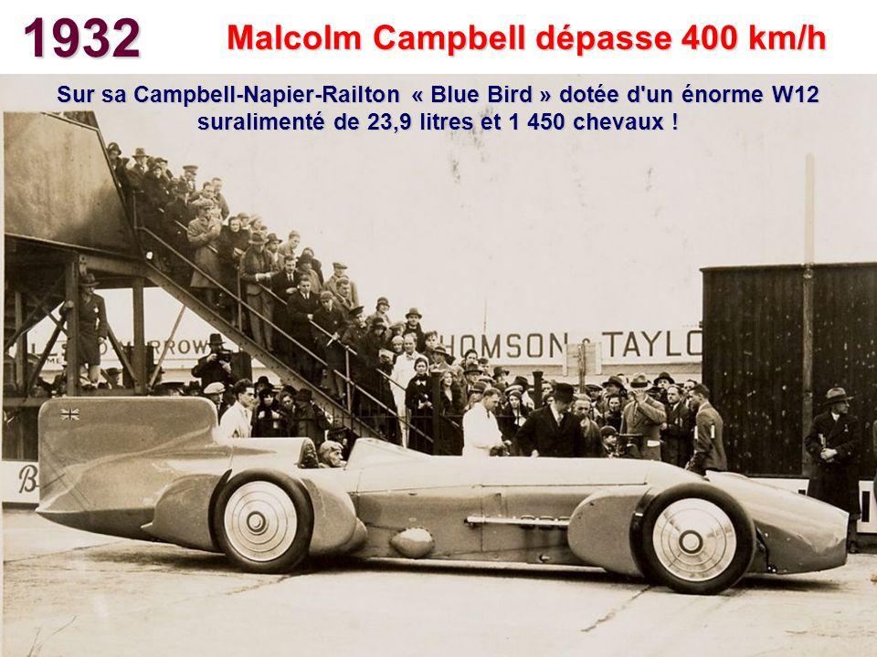 Malcolm Campbell dépasse 400 km/h