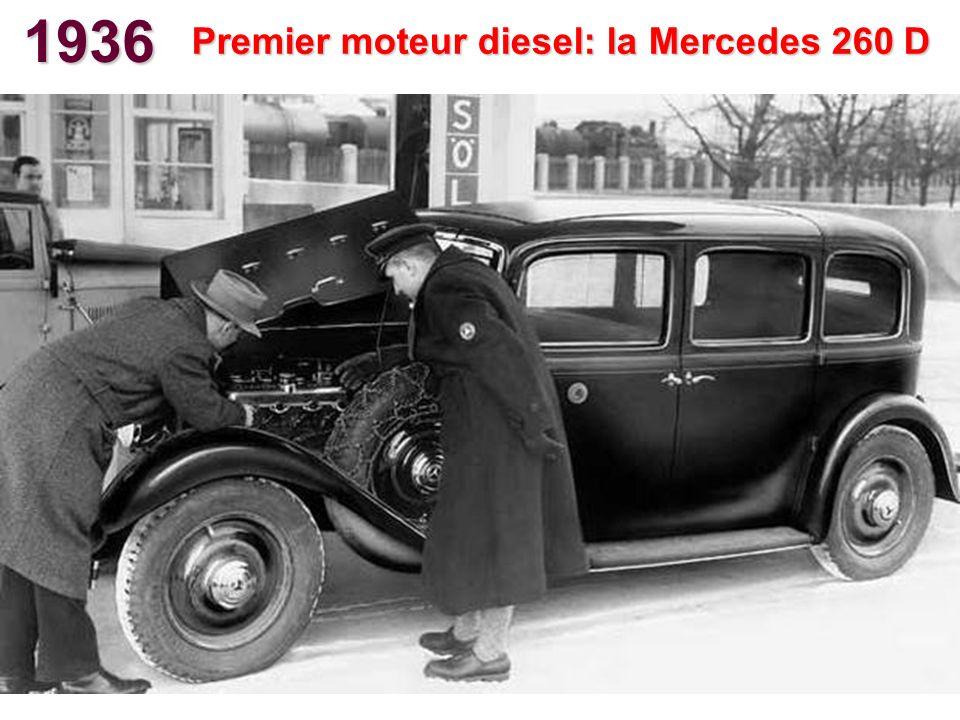 Premier moteur diesel: la Mercedes 260 D