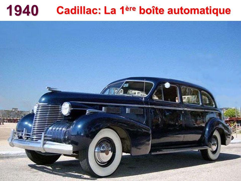 Cadillac: La 1ère boîte automatique