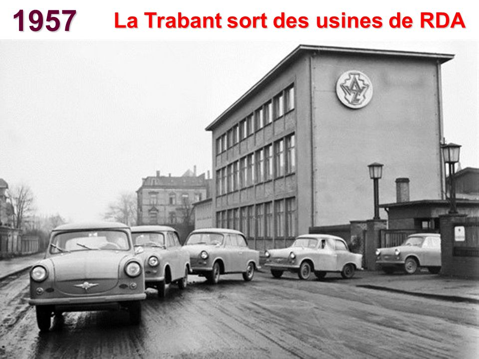 La Trabant sort des usines de RDA