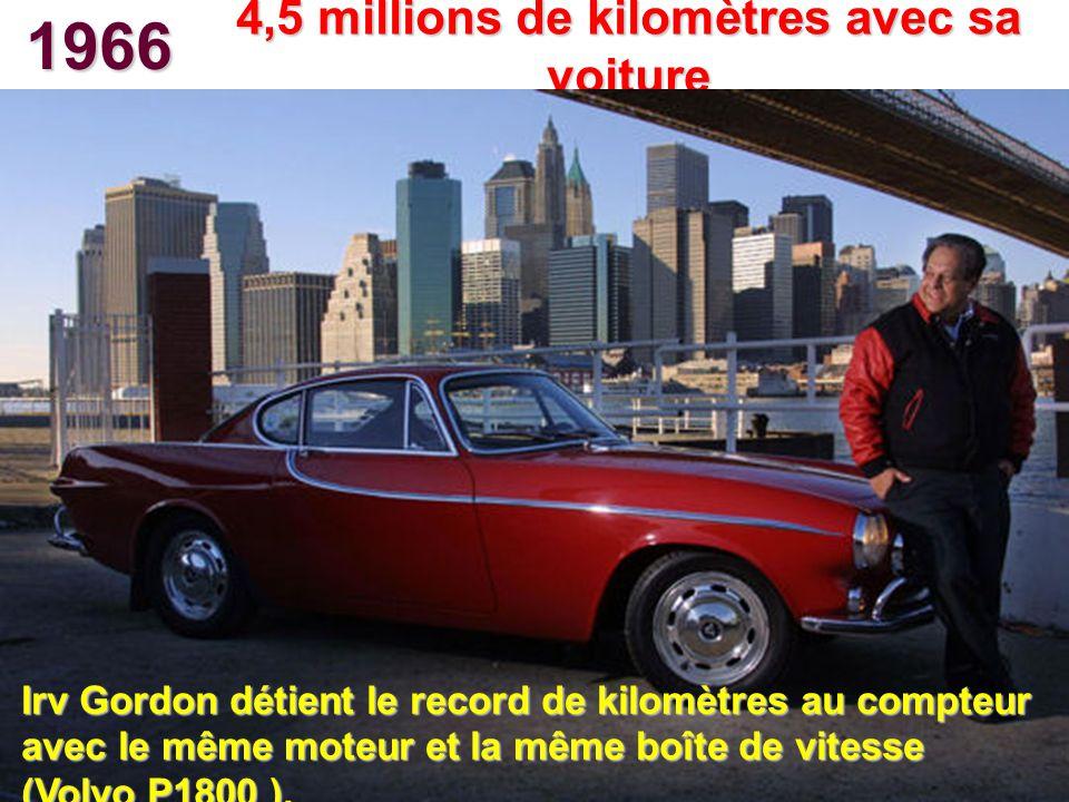 4,5 millions de kilomètres avec sa voiture