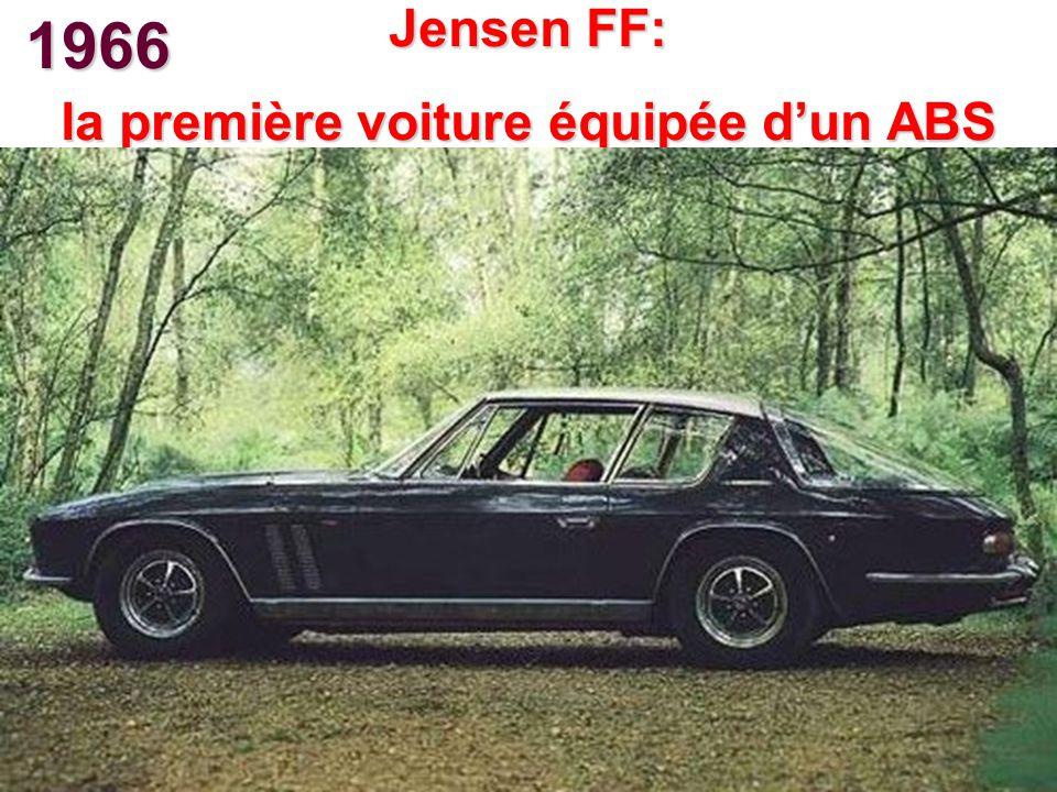 la première voiture équipée d'un ABS