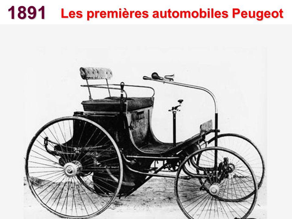 Les premières automobiles Peugeot