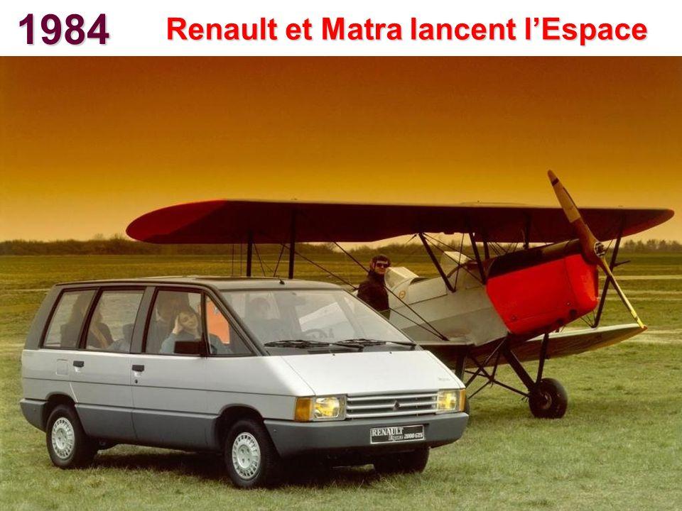 Renault et Matra lancent l'Espace