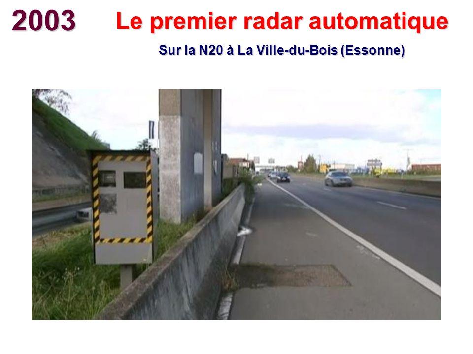 Le premier radar automatique Sur la N20 à La Ville-du-Bois (Essonne)