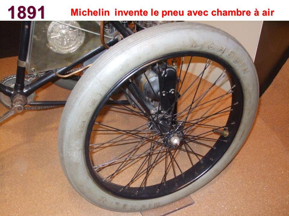 Michelin invente le pneu avec chambre à air