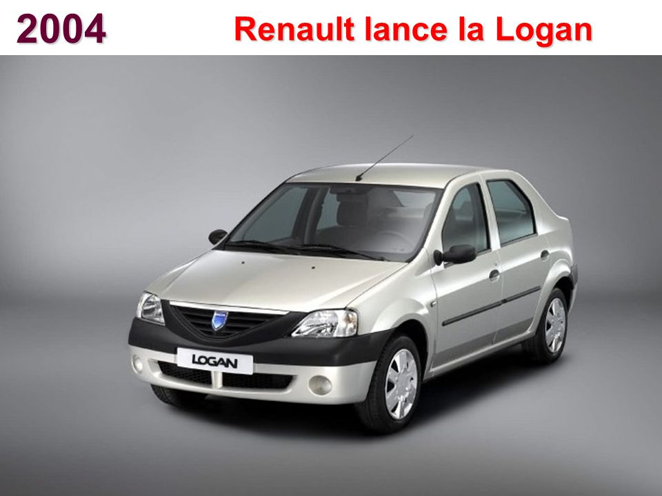 2004 Renault lance la Logan
