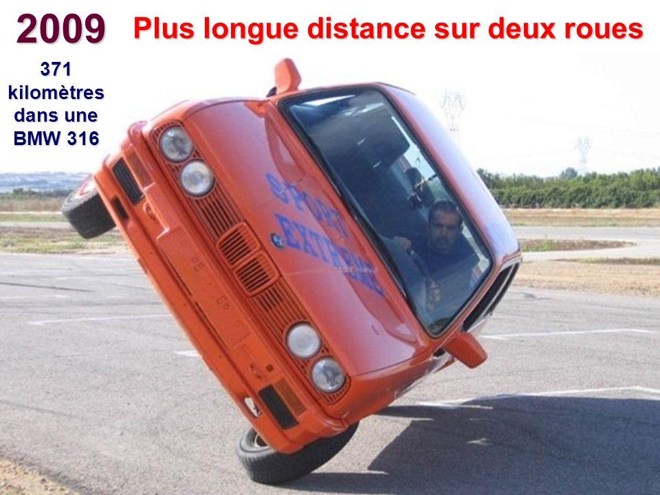 Plus longue distance sur deux roues 371 kilomètres dans une BMW 316