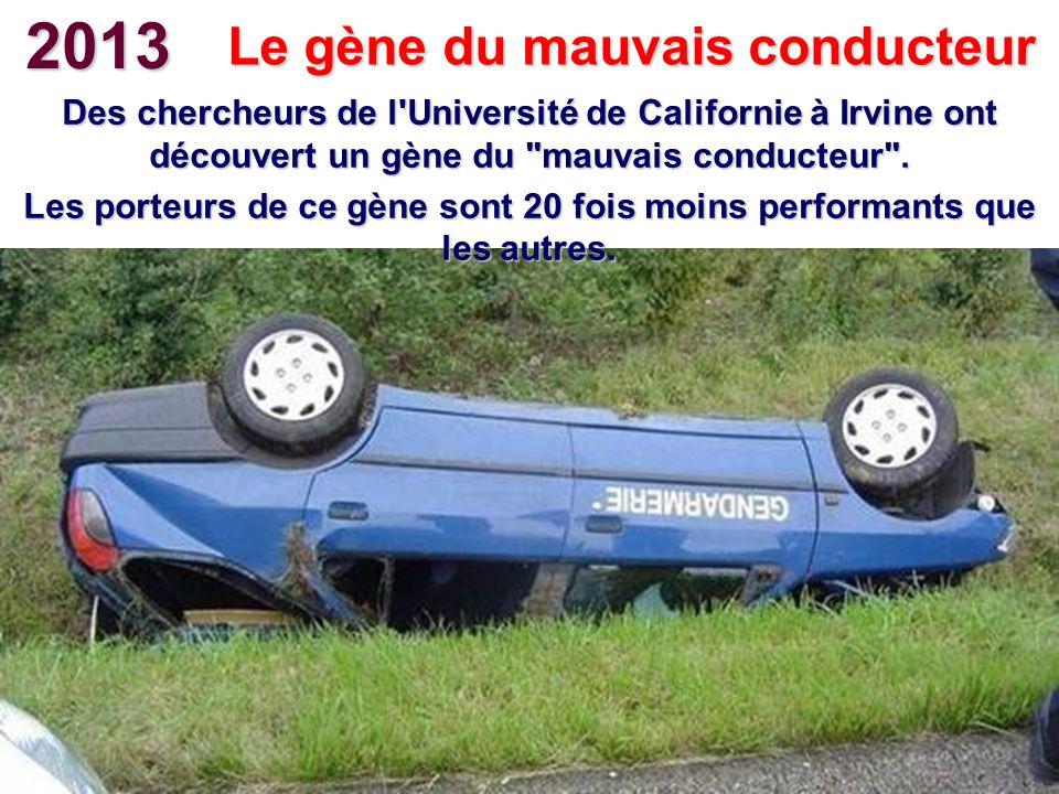 2013 Le gène du mauvais conducteur