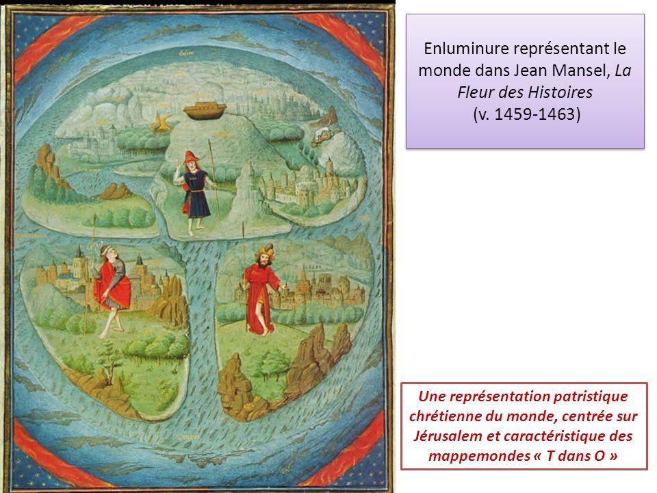 Enluminure représentant le monde dans Jean Mansel, La Fleur des Histoires (v. 1459-1463)