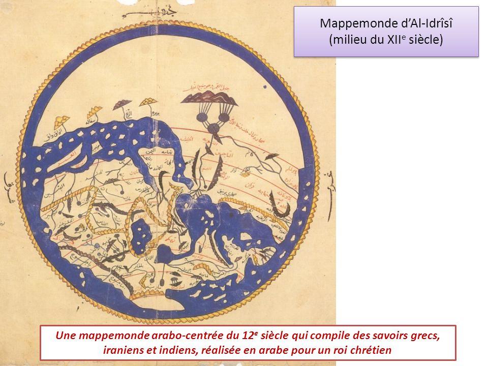 Mappemonde d'Al-Idrîsî (milieu du XIIe siècle)