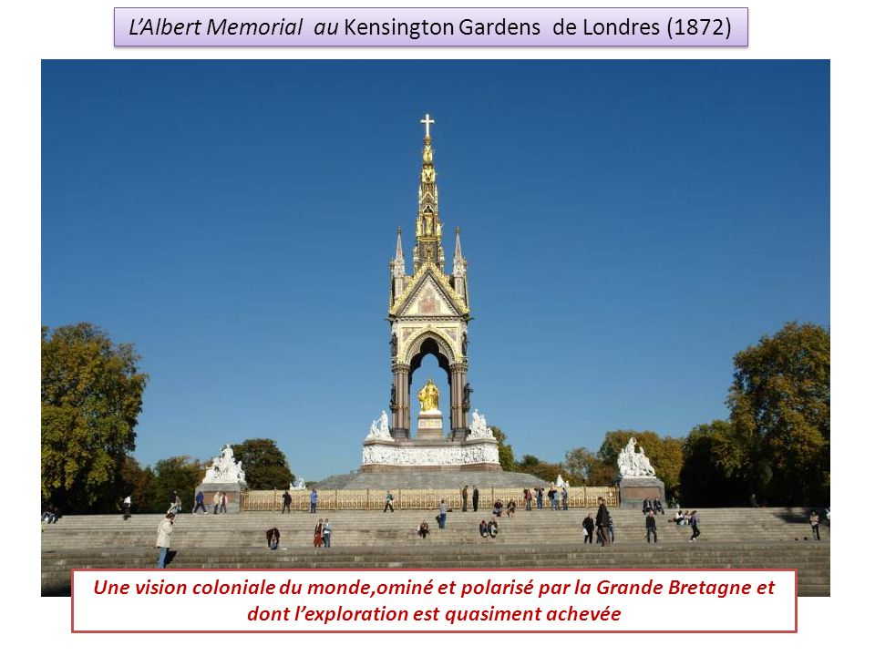 L'Albert Memorial au Kensington Gardens de Londres (1872)
