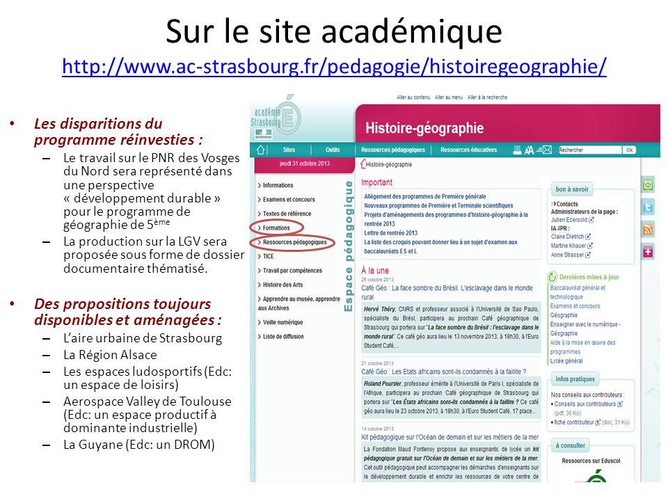 Sur le site académique http://www. ac-strasbourg