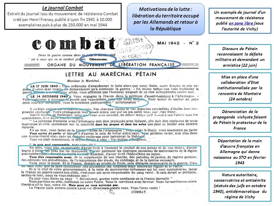 Le journal Combat