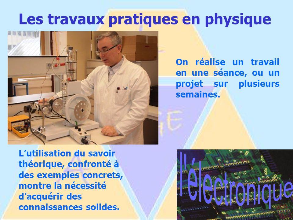 Les travaux pratiques en physique