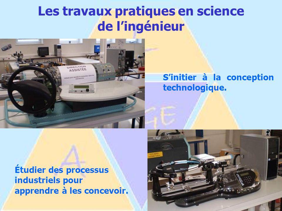 Les travaux pratiques en science de l'ingénieur