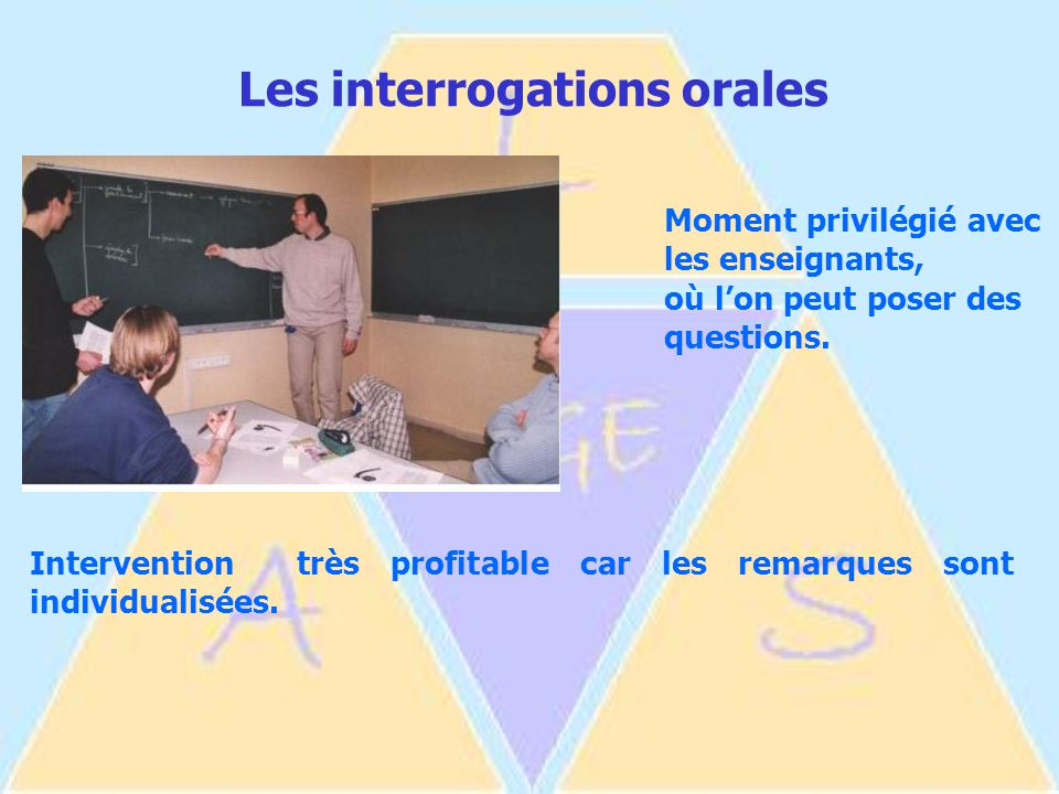 Les interrogations orales