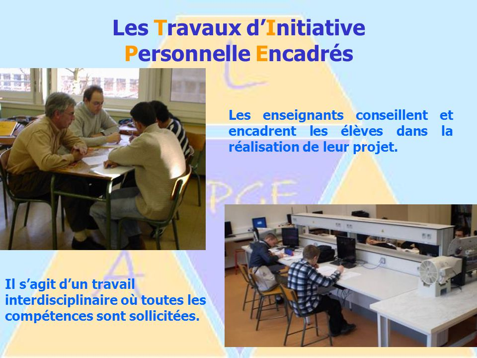 Les Travaux d'Initiative Personnelle Encadrés