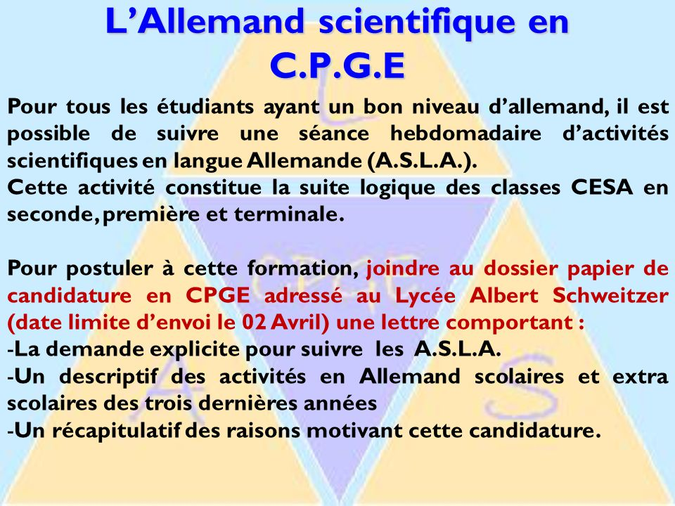 L'Allemand scientifique en C.P.G.E