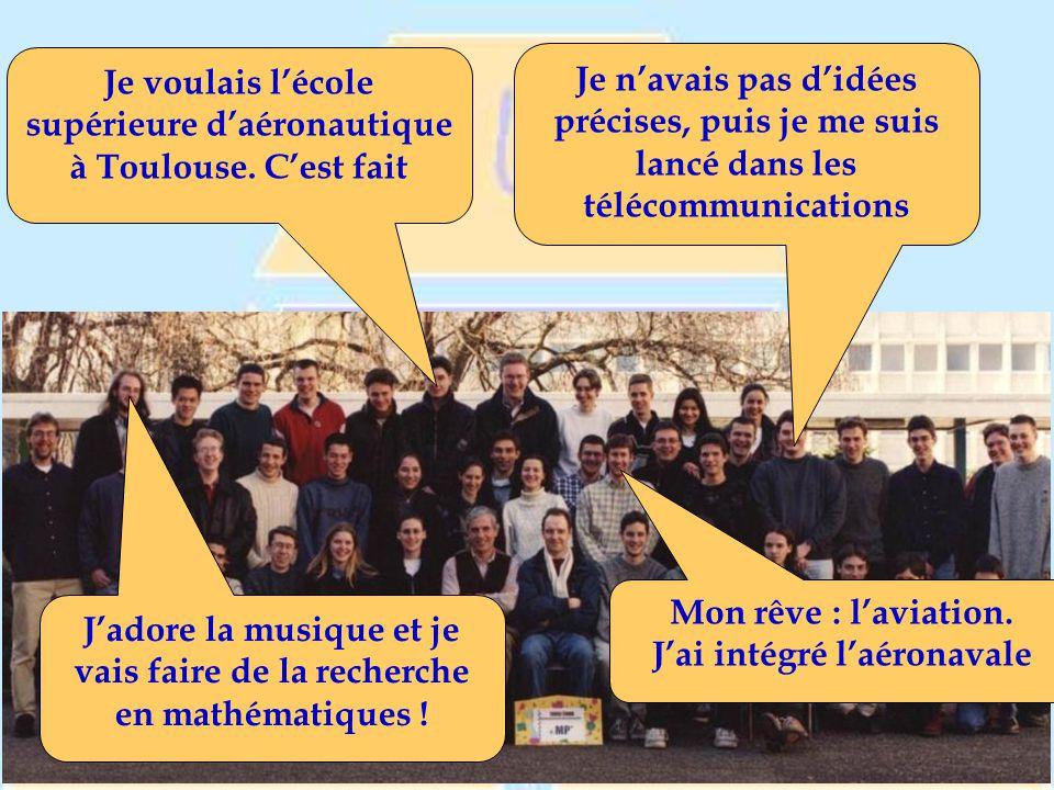 Je voulais l'école supérieure d'aéronautique à Toulouse. C'est fait