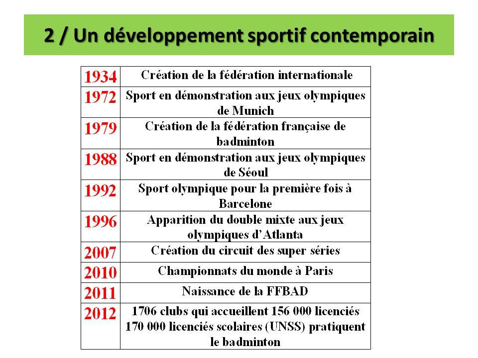 2 / Un développement sportif contemporain