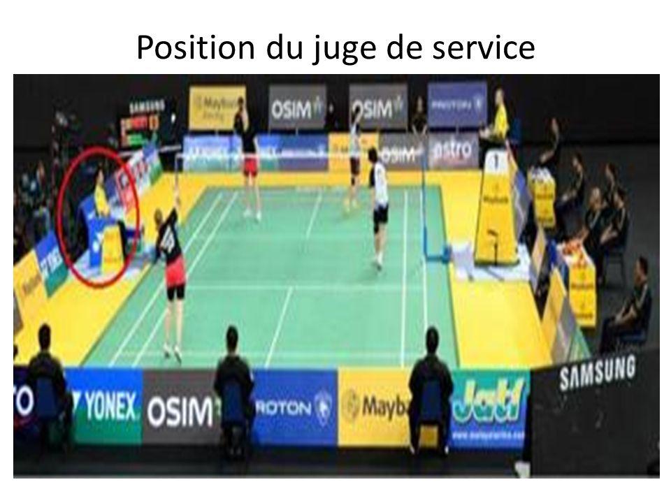 Position du juge de service