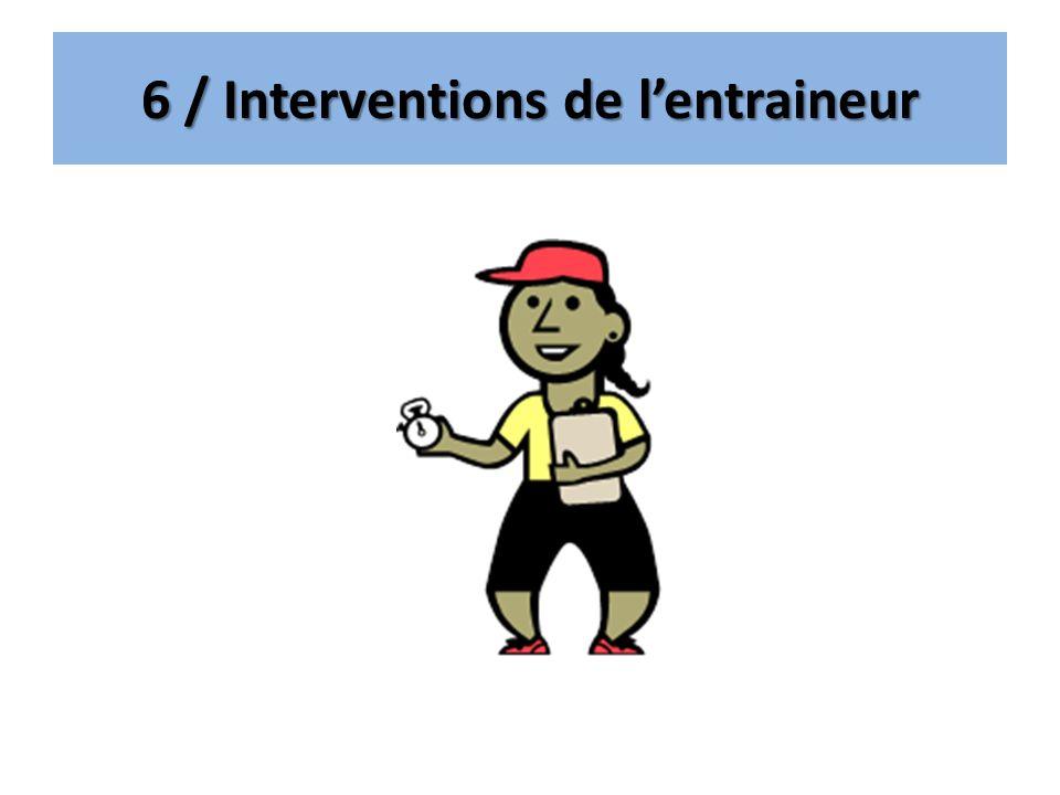 6 / Interventions de l'entraineur