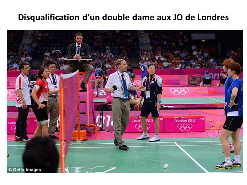 Disqualification d'un double dame aux JO de Londres