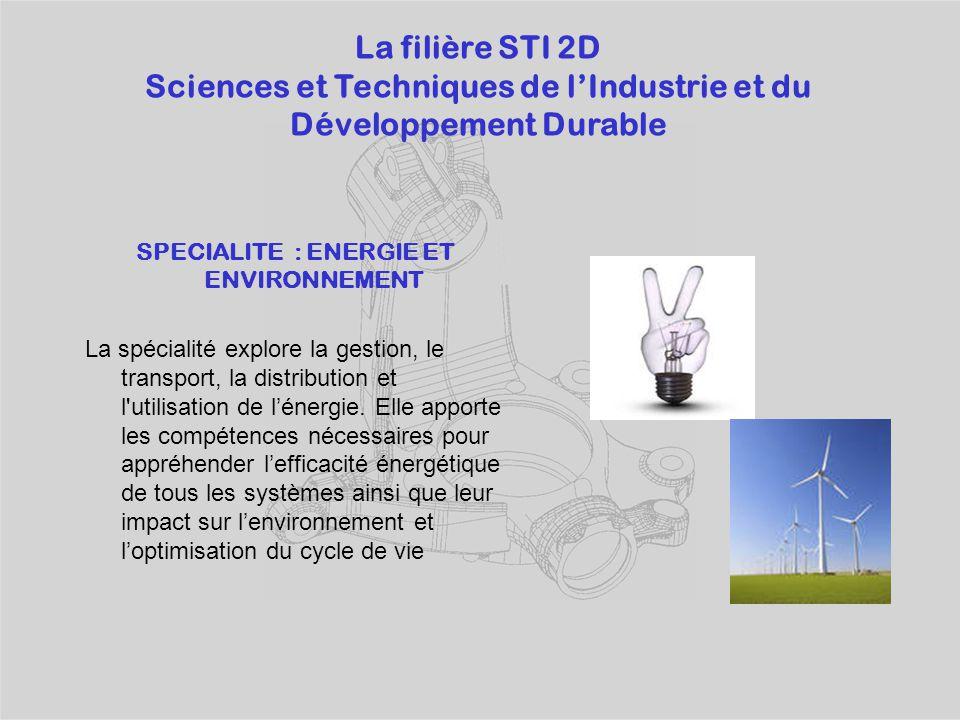 Sciences et Techniques de l'Industrie et du Développement Durable
