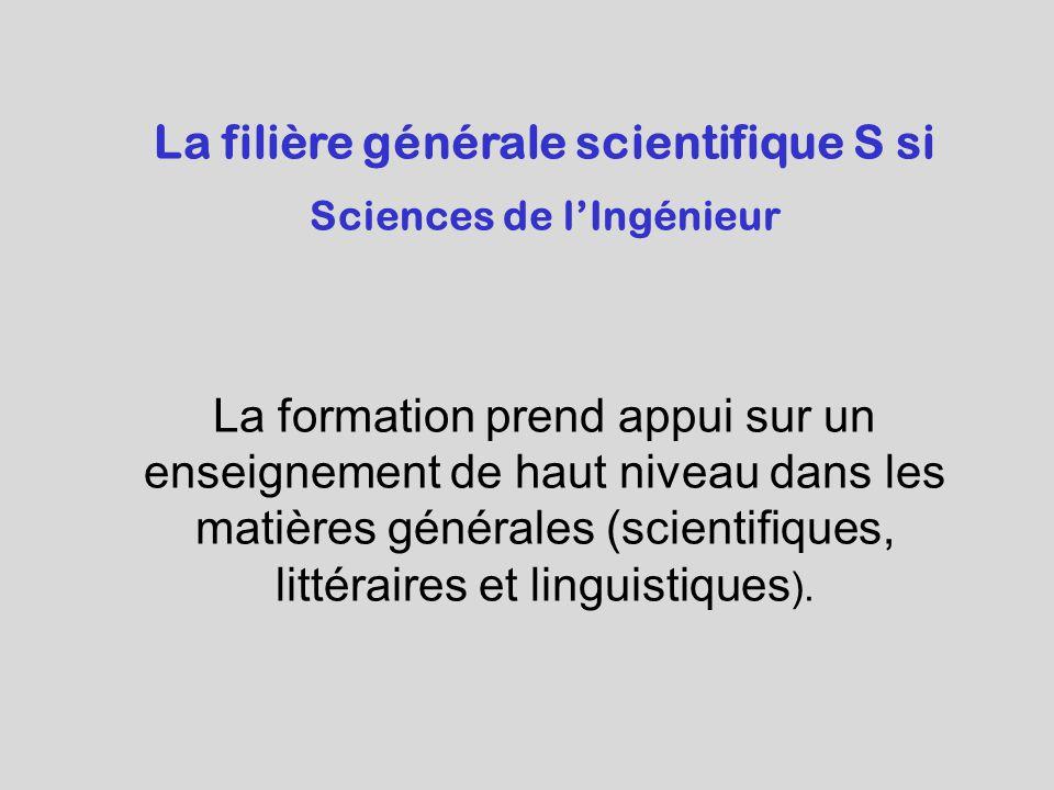 La filière générale scientifique S si