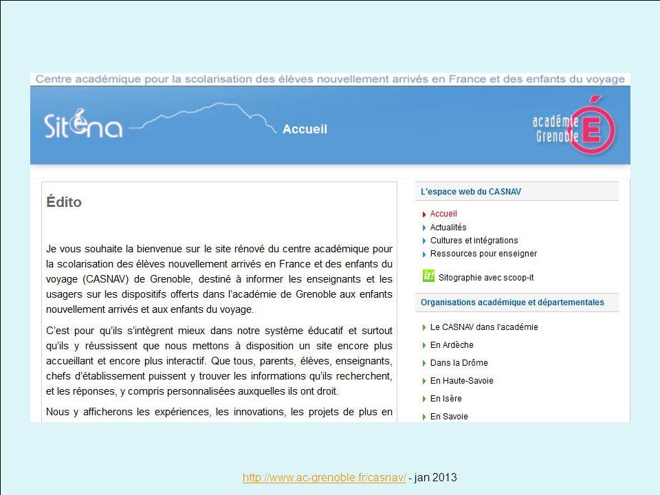 http://www.ac-grenoble.fr/casnav/ - jan 2013