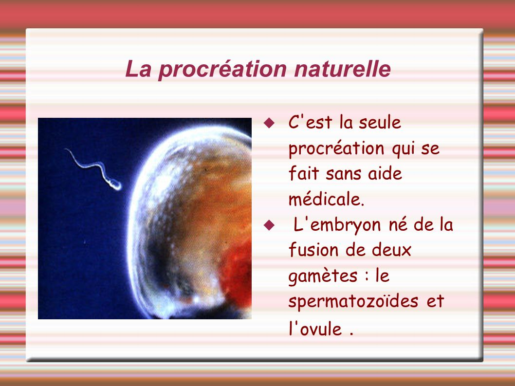 La procréation naturelle