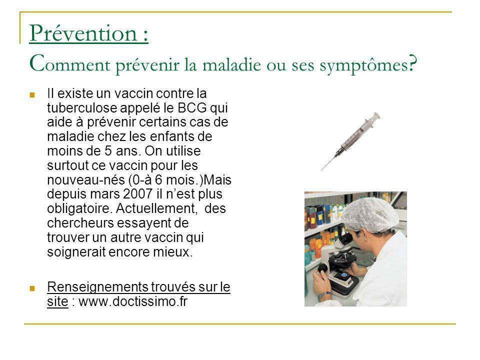 Prévention : Comment prévenir la maladie ou ses symptômes