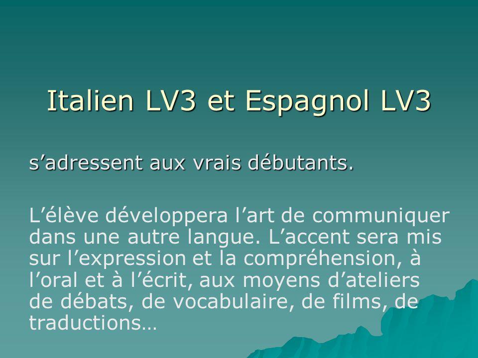 Italien LV3 et Espagnol LV3