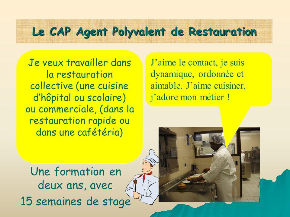 Le CAP Agent Polyvalent de Restauration