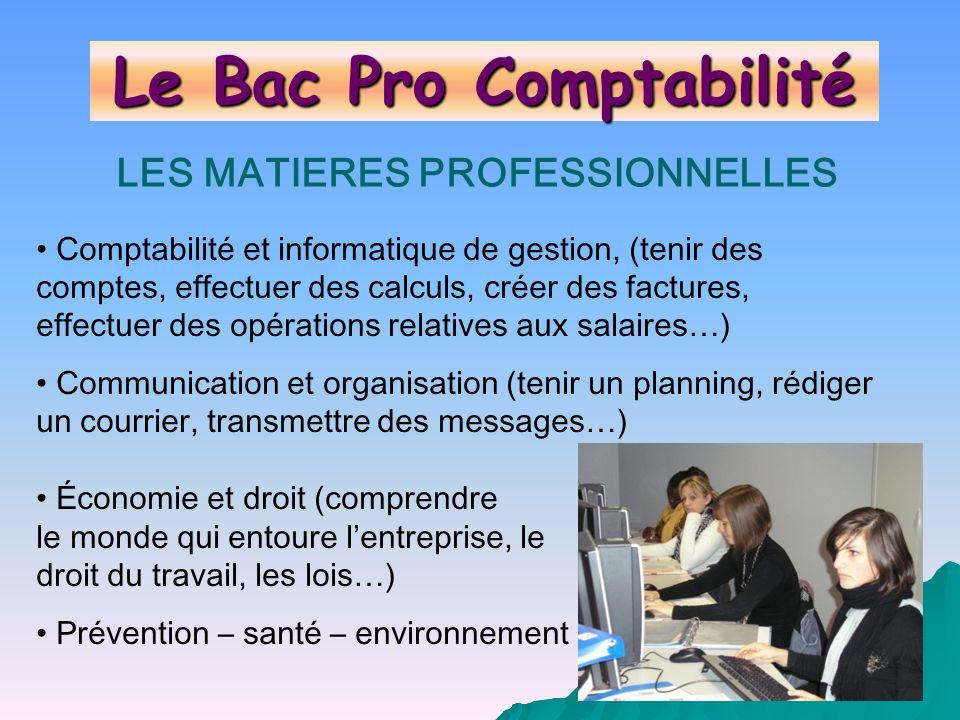 Le Bac Pro Comptabilité