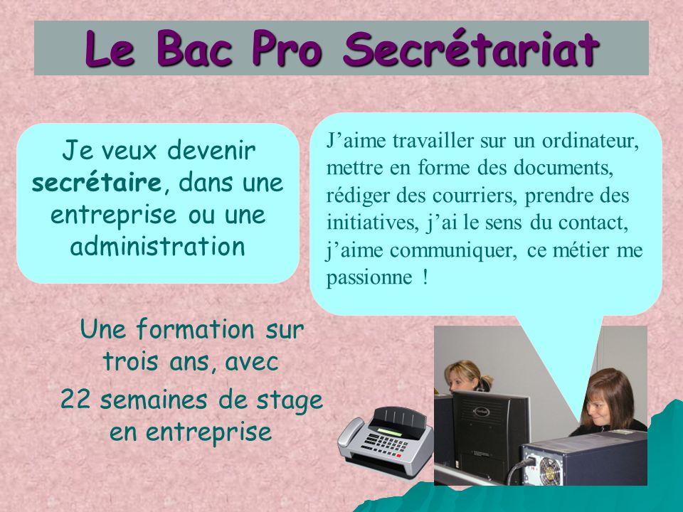 Le Bac Pro Secrétariat