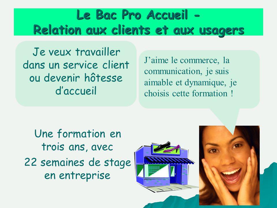 Le Bac Pro Accueil - Relation aux clients et aux usagers