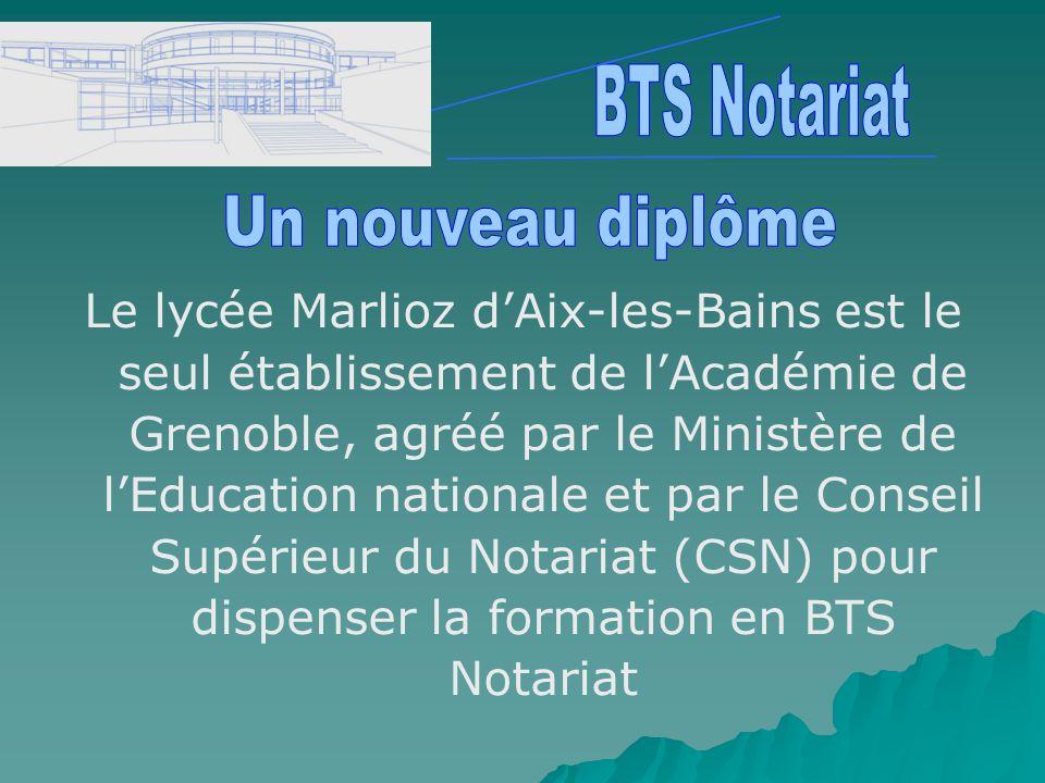 BTS Notariat Un nouveau diplôme