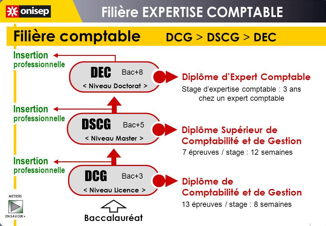 Filière comptable DCG > DSCG > DEC